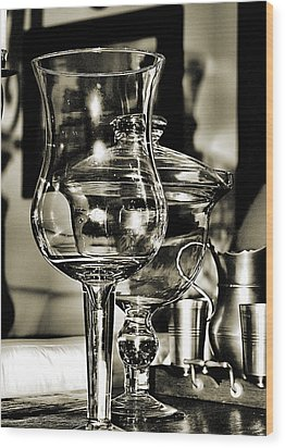 Pewter And Glass Wood Print by Bob Wall
