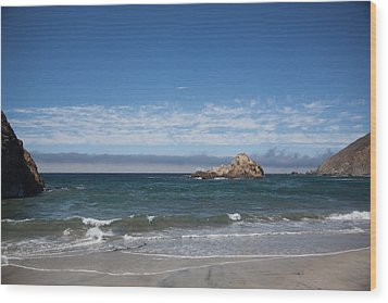 Pfeiffer Beach Wood Print by Ralf Kaiser