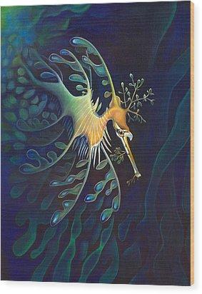Phantasmagoric Conception Wood Print by Sym