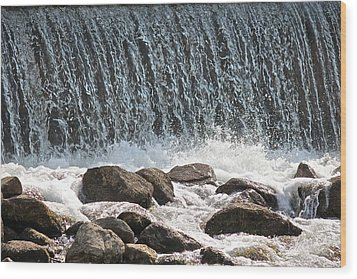 Wood Print featuring the photograph Phelps Mill Dam by Penny Meyers