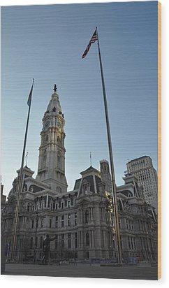 Philadelphia City Hall  Wood Print by Bill Cannon
