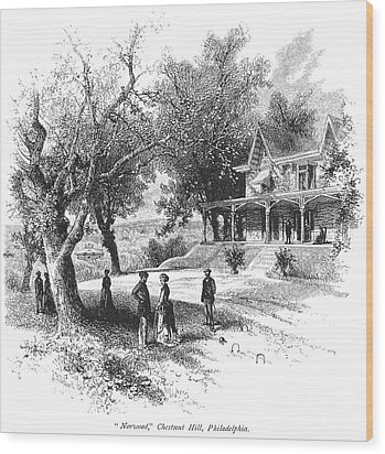 Philadelphia: Norwood Wood Print by Granger