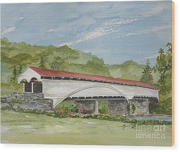 Philippi Covered Bridge  Wood Print
