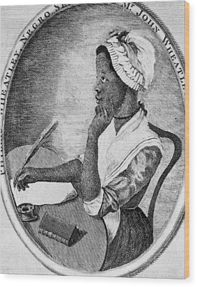 Phillis Wheatley 1753-1784, The First Wood Print by Everett