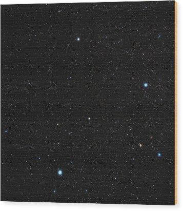 Phoenix Constellation Wood Print by Eckhard Slawik