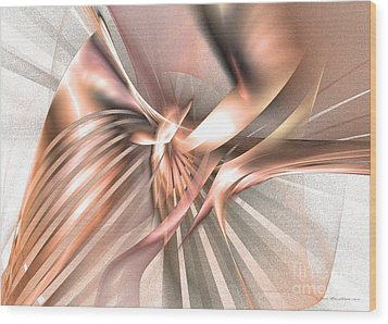 Phoenix Of The Future Wood Print by Abstract art prints by Sipo