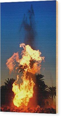 Wood Print featuring the photograph Phoenix Rising by Joe Urbz