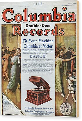 Phonograph Ad, 1914 Wood Print by Granger