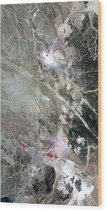 Phosphate Mines, Jordan Wood Print by Nasa