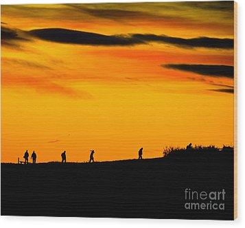 Photo Club Sunrise Wood Print by Harry Strharsky