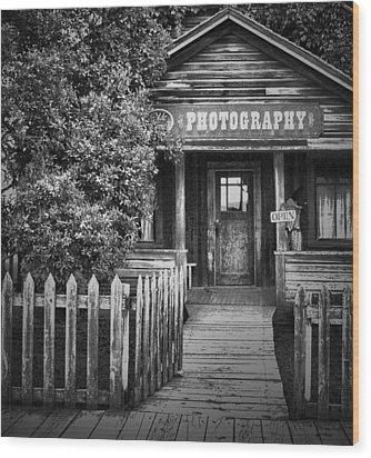 Photo Shop  Wood Print by Jerry Cordeiro