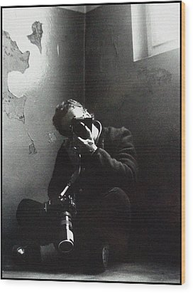 Photographer Wood Print by Franz Roth