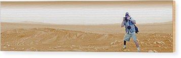 Photographer On Mars Wood Print