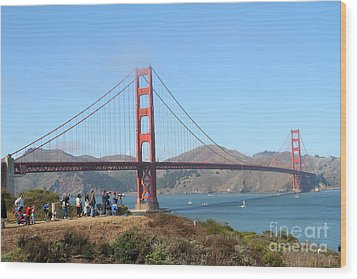 Photographing The San Francisco Golden Gate Bridge . 7d7787 Wood Print by Wingsdomain Art and Photography