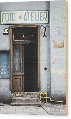 Wood Print featuring the photograph Photography Studio Entrance by Agnieszka Kubica