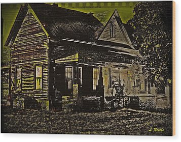 Photos In An Attic - Homestead Wood Print by Leslie Revels Andrews
