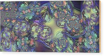 Phytoplankton Wood Print by Ron Bissett