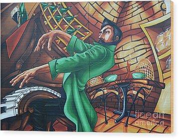 Piano Man 4 Wood Print by Bob Christopher