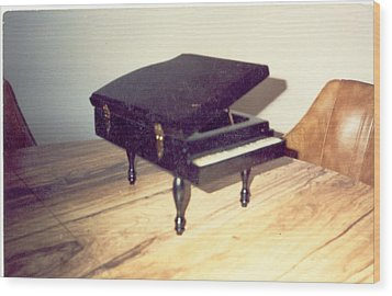 Piano Musical Box Wood Print by Val Oconnor