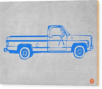 Pick Up Truck Wood Print by Naxart Studio