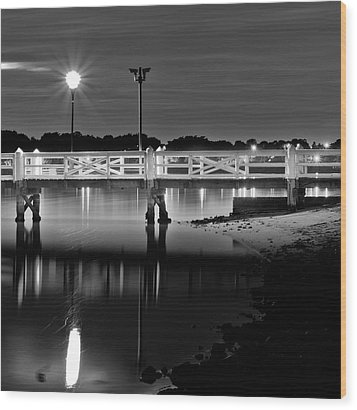 Picketted Jetty Wood Print by Mark Lucey
