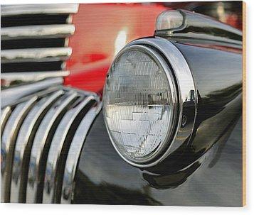 Pickup Chevrolet Headlight. Miami Wood Print by Juan Carlos Ferro Duque