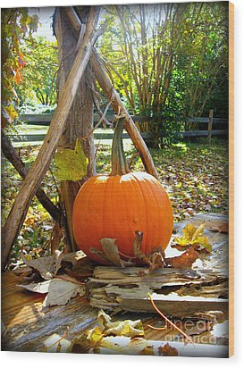 Wood Print featuring the photograph Pie by Nancy Dole McGuigan