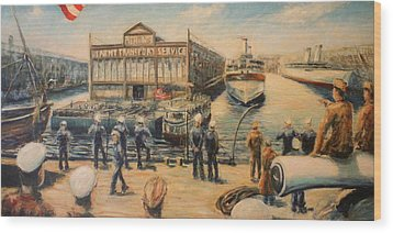 Pier 3  The Us Army Transport Service Wood Print by Daniel W Green