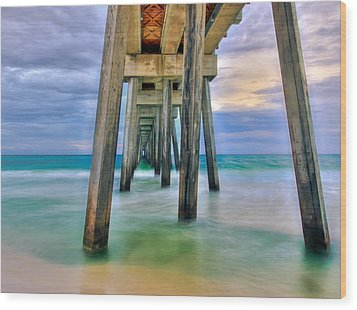 Wood Print featuring the photograph Pier  by Anna Rumiantseva