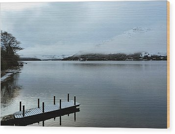 Wood Print featuring the photograph Pier On The Loch by Lynn Bolt