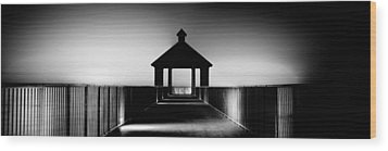 Pier Panoramic Wood Print by Pixel Perfect by Michael Moore