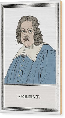 Pierre De Fermat, French Mathematician Wood Print by Science Source