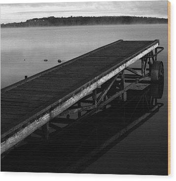 Piers Of Pleasure  Wood Print by Empty Wall