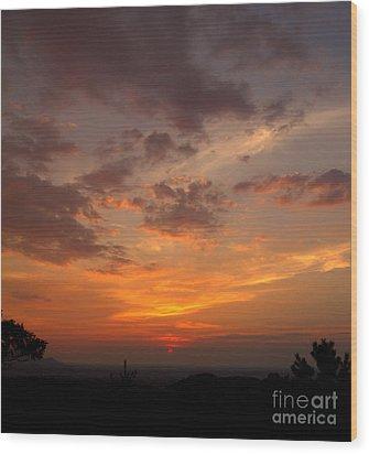 Pigeon Forge Sunset Wood Print