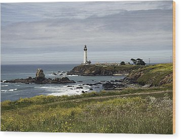 Wood Print featuring the photograph Pigeon Point Light Station by Paul Plaine