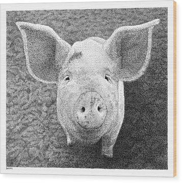 Piglet Wood Print