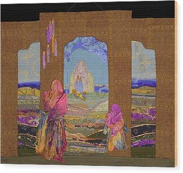 Pilgrimage Wood Print by Roberta Baker