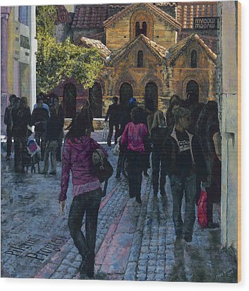 Pilgrims Progress Wood Print by Mike Burns