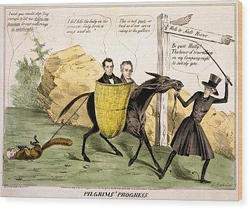 Pilgrims Progress, Showing Ex-president Wood Print by Everett