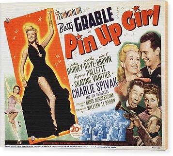 Pin-up Girl, Betty Grable, John Harvey Wood Print by Everett