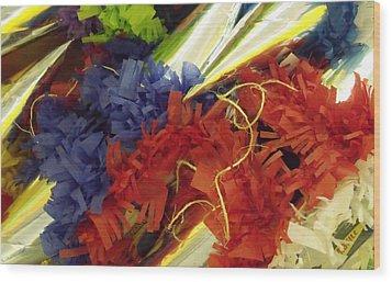 Pinata Pile Wood Print by Anna Villarreal Garbis