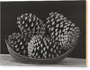Wood Print featuring the photograph Pine Cones- St Lucia by Chester Williams