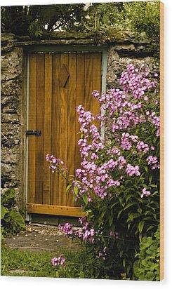Pine Door Wood Print by Peter Jenkins