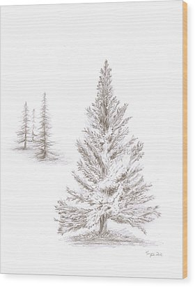 Pine Grove Wood Print by Steven Powers SMP
