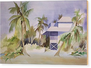 Wood Print featuring the painting Pine Island Fl. by Richard Willows