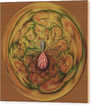 Pineapple Orb Wood Print