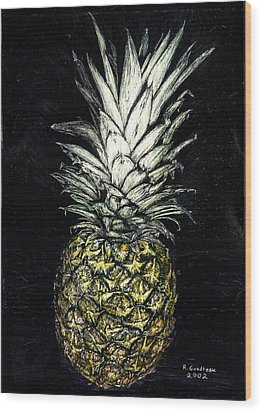 Pineapple Wood Print by Robert Goudreau