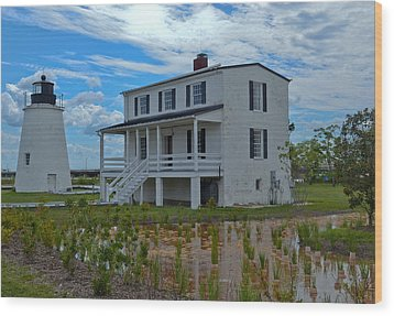 Wood Print featuring the photograph Piney Point Lighthouse by Kelly Reber