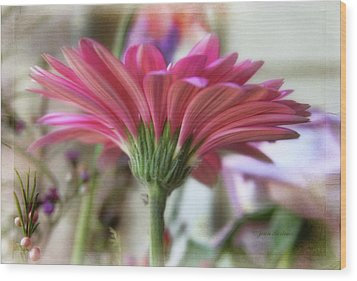 Wood Print featuring the photograph Pink Beauty by Joan Bertucci