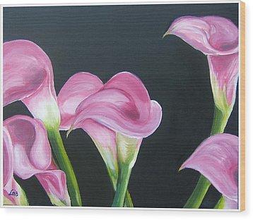 Pink Calla Lily's Wood Print